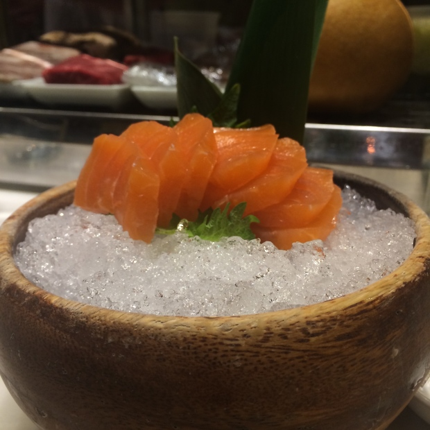 Generous portion of Salmon Sashimi