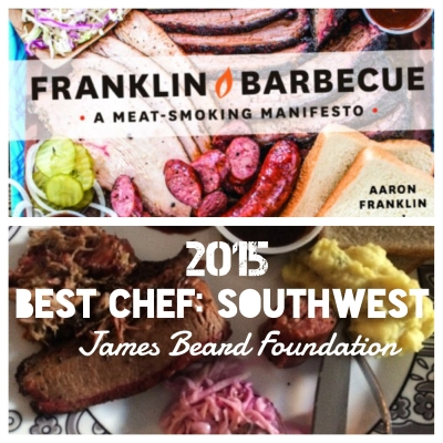 Franklin BBQ Chef, Aaron Franklin, wins best chef in the Southwest.  Top photo from https://franklinbarbecue.com; Bottom photo from my living room where I ate delicious leftovers.