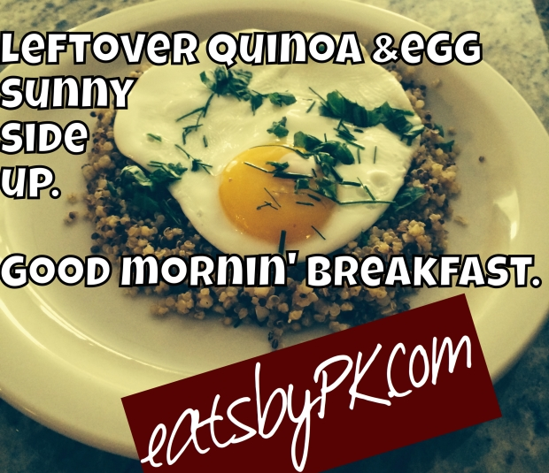 Leftover Quinoa (from my recipes) can easily be used all week, like for breakfast.