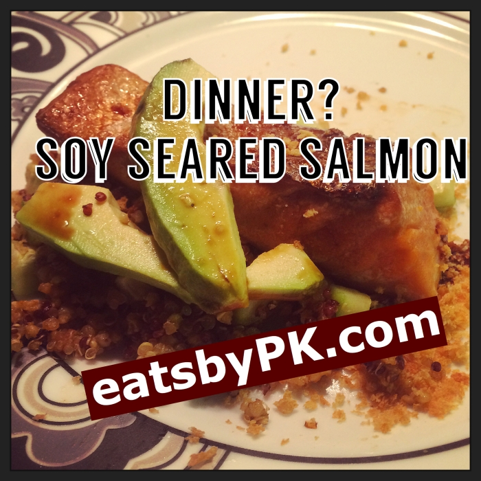 Healthy yummy salmon dinner in less than 20 minutes.